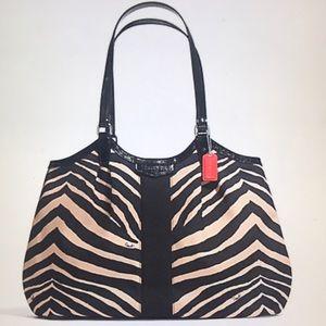 Coach Signature Zebra Print